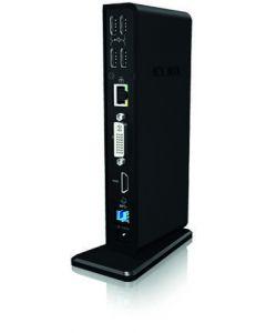 ICY BOX IB-DK2241AC, dockningsstation för bärbara datorer, USB 3.0,