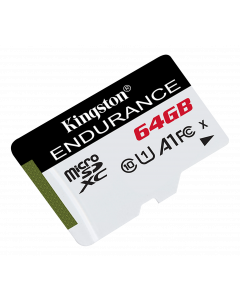 Kingston 64GB microSDHC Endurance 95R/30W C10 A1 UHS-I Card Only