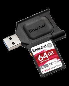 Kingston 64GB SDXC React Plus SDR2 + MLP SD Reader