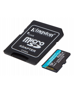 Kingston 512GB microSDXC Canvas Go Plus 170R A2 U3 V30 Card + ADP