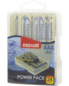 Maxell batterier, AAA (LR03), Alkaline, 1,5V, 24-pack