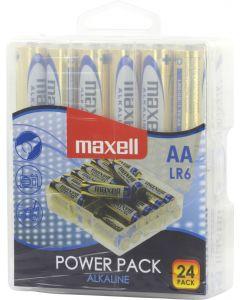 Maxell batterier, AA (LR6), Alkaline, 1,5 V, 24-pack