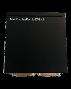 Mini DisplayPort till DVI Splitter, två DVI-I-utgångar, Full HD, 2,2 G