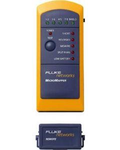 Fluke MicroMapper, kabeltester för RJ45, ton-generator för lokaliser