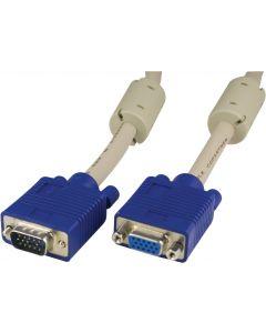 DELTACO Förlängningskabel RGB HD15ha-ho 2 m Pin-Pin, utan pin9
