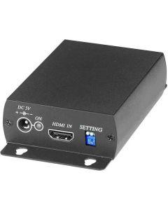 Signalomvandlare, från HDMI till SDI, BNC, PAL/NTSC/720p/1080p, svart