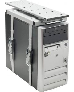 Upphängning för datorlådor, 360 grader vridbar, silver