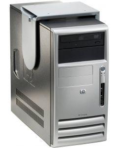 Plain, datorhållare för montering under bord, silver