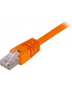 DELTACO F/UTP Cat6 patchkabel, LSZH, 5m, orange