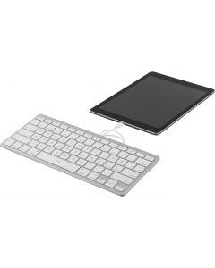 DELTACO lightning-tangentbord för iOS, MFi, 1m, nordisk, vit/silver