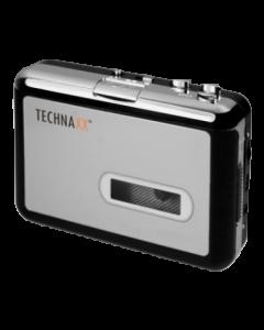 Technaxx digital omvandlare för kassettband, 64-320 kbps,32 Ohm,silver