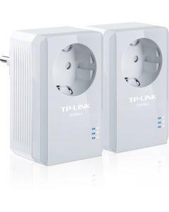 TP-Link Powerline 500Mbps, Ethernet Adapter Kit, 2 enheter, vit