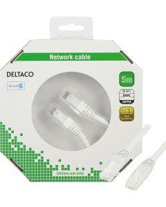 DELTACO U/UTP Cat6 patchkabel, LSZH, 5m, vit