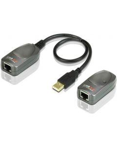 ATEN UCE260, USB 2.0 förlängning via Ethernet, 60m, 480Mb/s, sv/grå