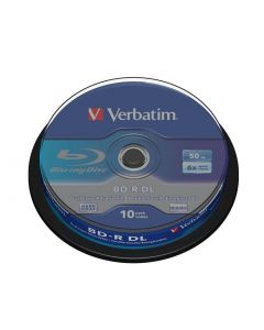 Verbatim BD-R Double Layer 6X, Scratchguard surface 10p Spindle