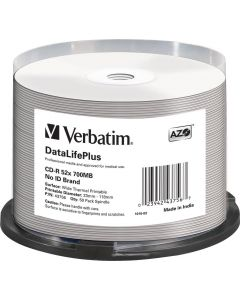 Verbatim CD-R 52x 700 MB/80 min, 50-pack sp, No ID-brand, Thermal Prin
