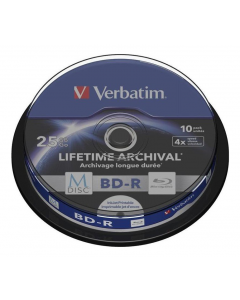 Verbatim - M-Disc BD-R Blu-Ray skivor, 10-pack spindel