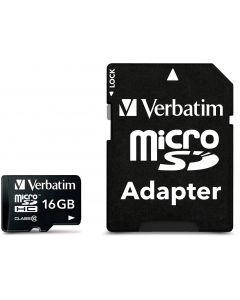 Verbatim microSDHC, 16GB,  Class 10, inkl adapter