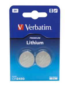 Verbatim CR2450 3V Lithium Battery 2p