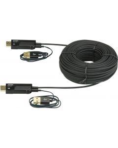 Aten aktiv optisk HDMI-kabel, HDMI 1.3, 19-pin ha-ha, USB , 30m, svart