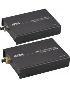 ATEN HDMI-förlängare, 600m, 19-pin ho, RS-232, LC Simplex, svart