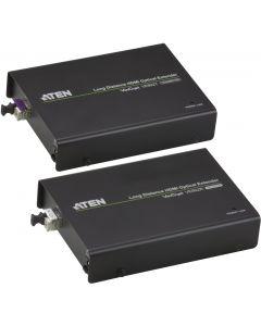 ATEN HDMI-förlängare, 20km, 19-pin ho, RS-232, LC Simplex, svart