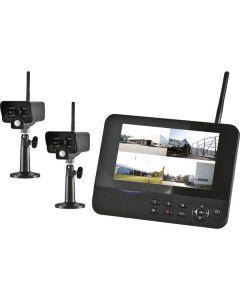 DVR-Kit med 2st trådlösa kameror och 7