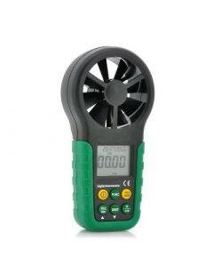Digital anemometer, mäter vindhastighet, luftfuktighet och temperatur