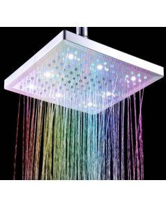Duschmunstycke med flerfärgat LED-lju