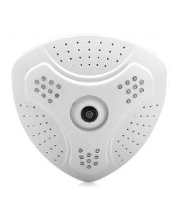 IP Kamera med 360 graders fisheye lins, kabelansluten, SD-minne, 1.3MP