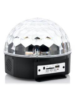 LED Discokula, med musikanpassad lasershow och inbyggda högtalare