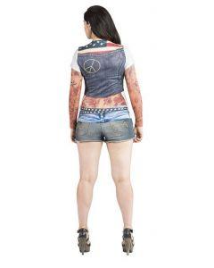 Ladies Biker Tatto Shirt M