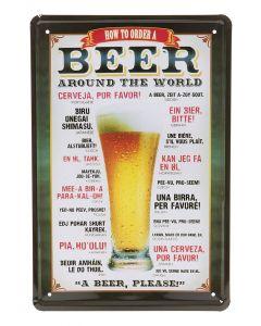 Metalltavla Beer