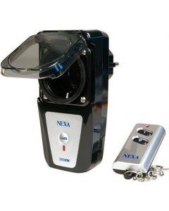 Nexa fjärrströmbrytare för utomhusbruk, IP44, 30m, fjärrkontroll