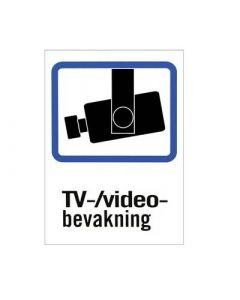 Plastskyltar TV/Video-bevakning, A4 och A5 storlek