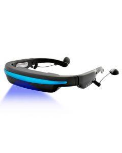 Portabla filmglasögon som simulerar 52 tums skärm