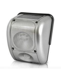 Solcellsdriven övervakningslampa med rörelsedetektor