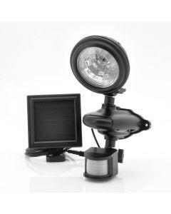 Vattentät, solcellsdriven övervakningslampa med rörelsedetektor