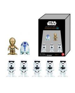 Star Wars-figurer, C-3PO, R2-D2 och Stormtroopers