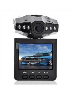 Svart bilkamera med monitor och inbyggd DVR