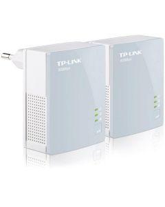 TP-LINK AV 500 Mini Powerline Starter Kit, två enheter, 500Mbps, vit/sva