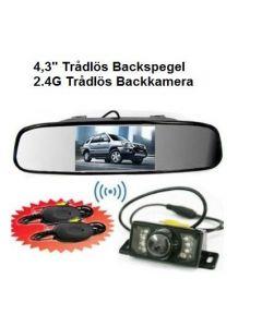 Backspegel med trådlös backkamera