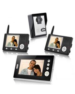 Trådlös porttelefon med videoöverföring till tre mottagare
