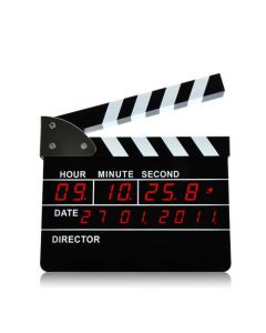 Väckarklocka i form av en filmklappa