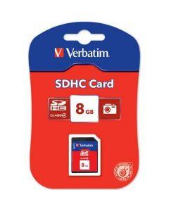 Verbatim 8GB minneskort, klass 4.