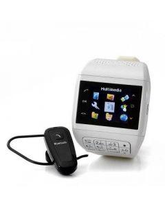 Vit mobilklocka med dubbla simkort och touchscreen