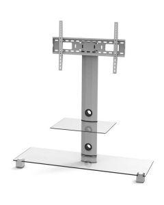 EPZI ARM-801A - Ställ för TV, DVD, spelkonsol - aluminium, glas - silver - skärmstorlek: 32