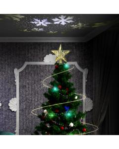 Julstjärna,LED Ljusprojektion snöflinga