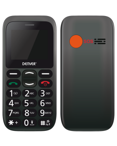 Senior / Pensionär mobiltelefon med tydliga knappar och lång batteritid, SOS-knapp