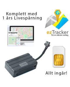 ezTracker GPS Tracker till fordon med 1 års gratis livespårning i EU